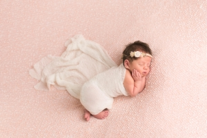 albany ny newborn photographer newborn in pink