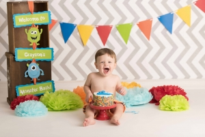 albany ny photographer - monsters cake smash