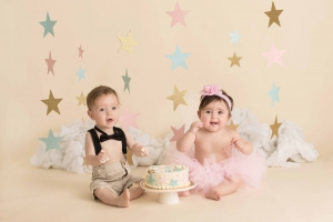 photographer albany ny - twin cake smash