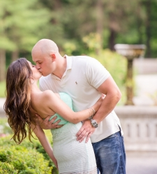 yaddo gardens engagement photo