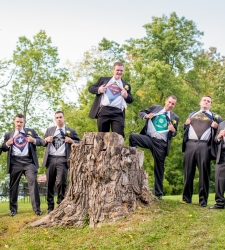 super hero groomsmen