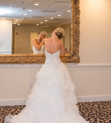 mohawk river country club wedding photo