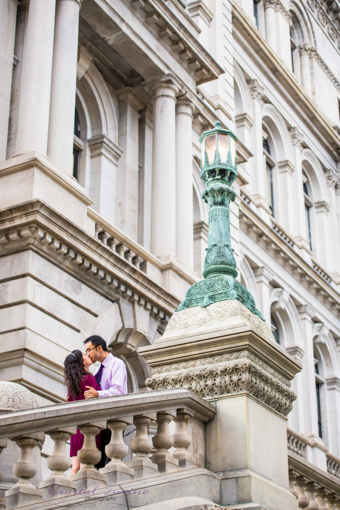downtown albany ny engagement photo
