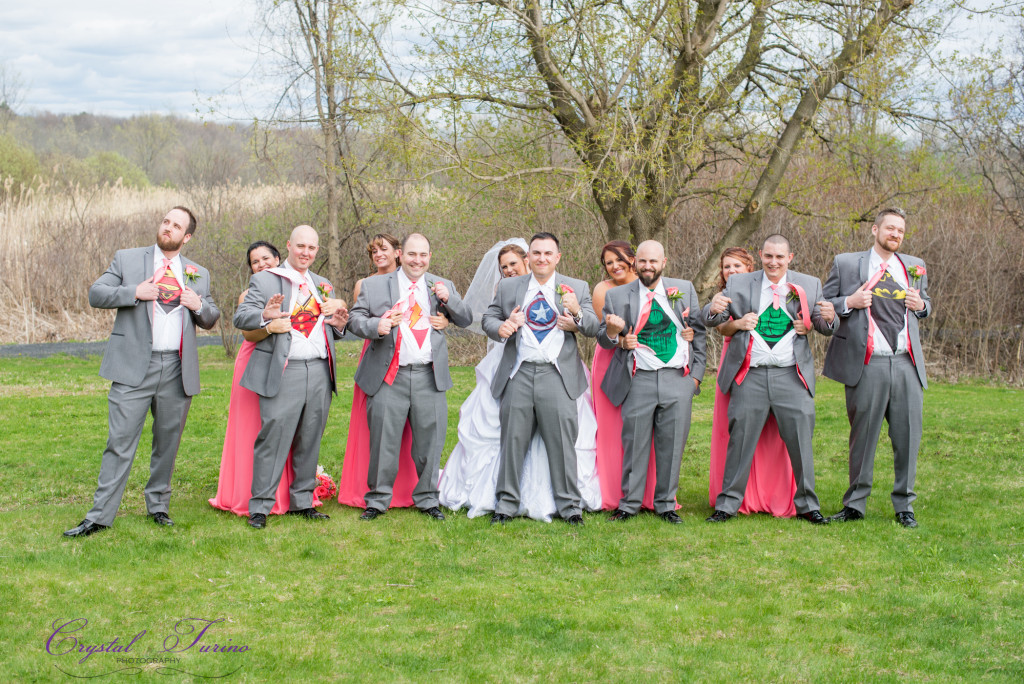 super hero wedding photo