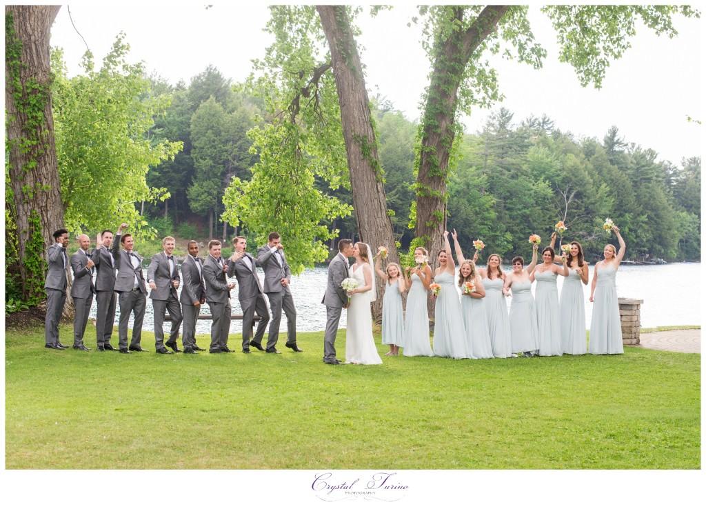 crooked lake house wedding photo