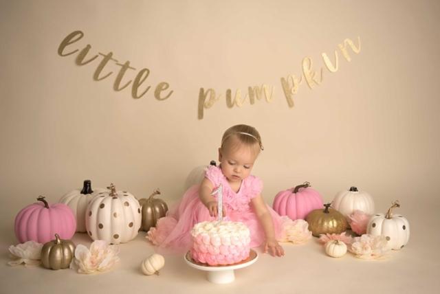 pumpkin cake smash photography