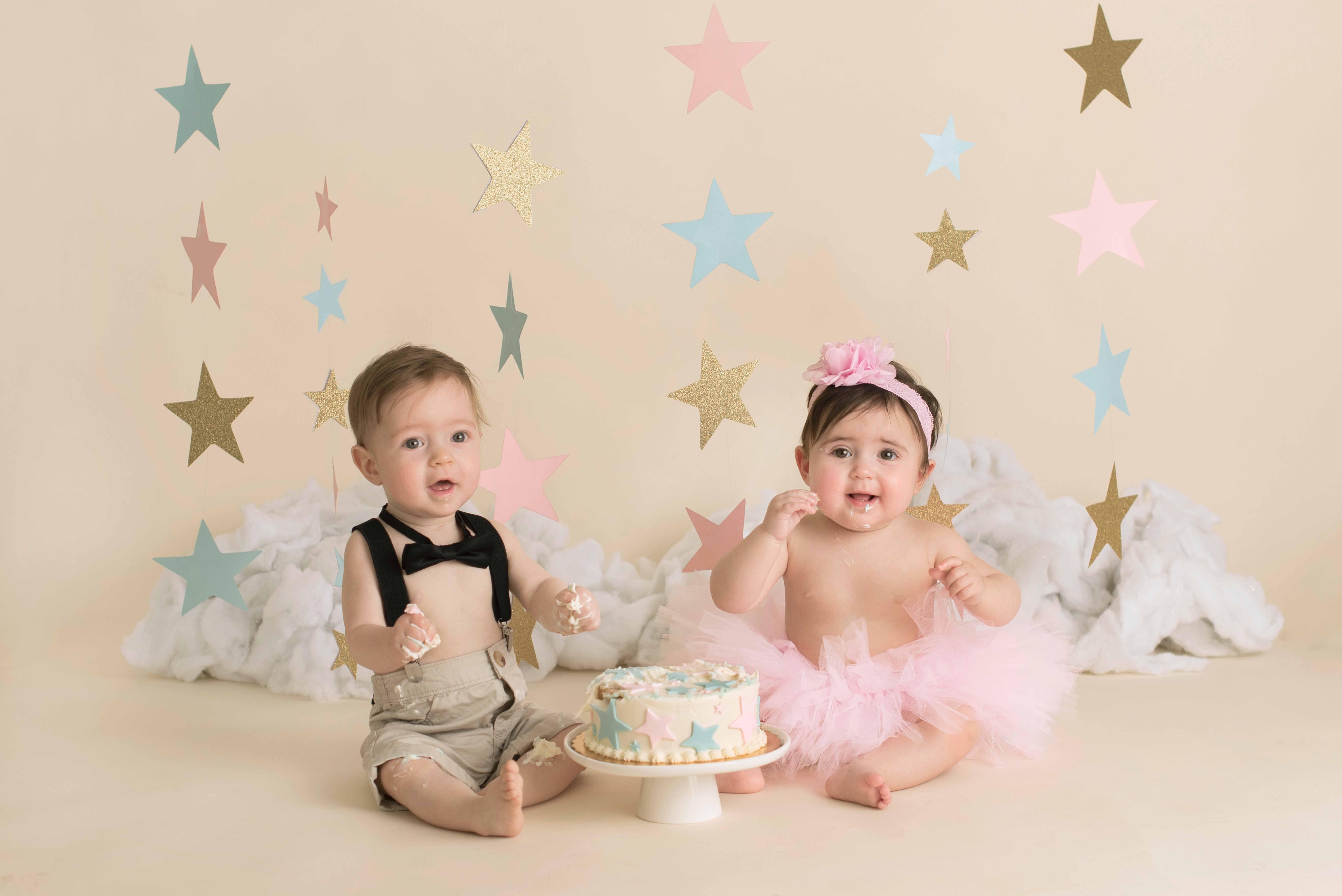 star twin cake smash photography albany ny